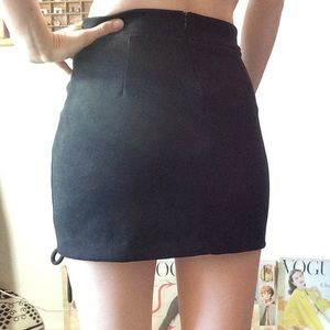 Hot Topic Skirts - Sexy Faux Suede Lace Up Mini Skirt Black